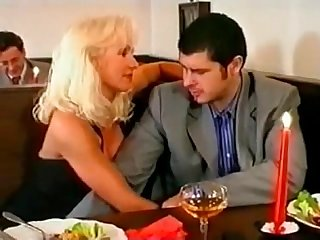 Beautiful super hot blonde gangbanged and dp in bar helen duval