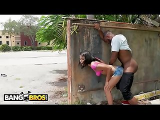Bangbros ebony maya bijou gets fucked in public by multiple guys