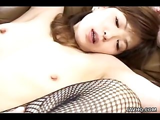 Asian slut has a pair of penises she is fucking