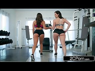 Fitness babes abigail mac kendra lust share one lucky boy