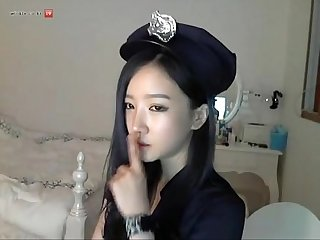 Korean Police Cosplay on cam
