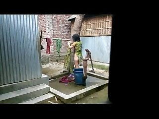 Desi girl bathing outdoor for more visit http sh st 3b8dg