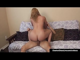 Hot Milf charlee chase watches hubby Creampie Girlfriend