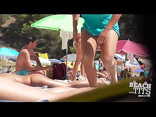 Teen topless beach nude hd V