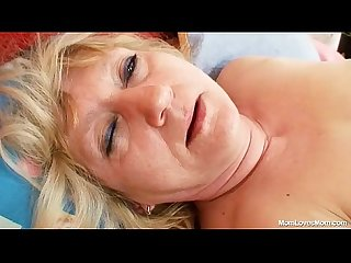 Dirty old grandma pussy spreading and masturbation