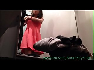Young latina Dressing room Spycam