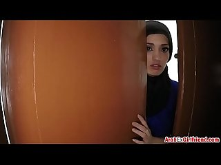 Beautiful Arab wife left by husband decided to sold her shaved tight p for sex 3