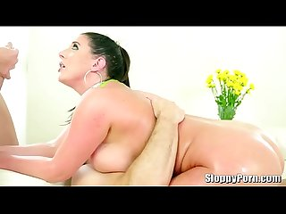 Natural busty Angela White double penetrated