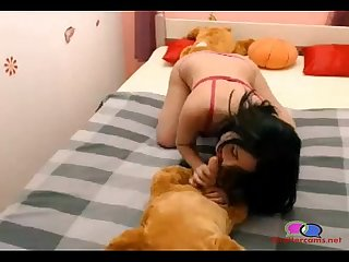 Girl gives her dog blow job chattercams period net