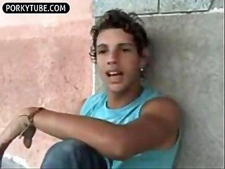 Felipe undresses and wanks