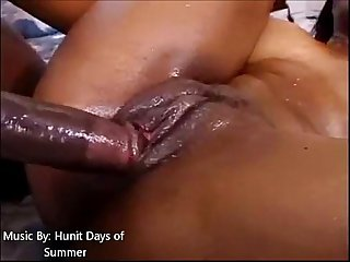 Big booty oiled up and fucked with facial cum shot