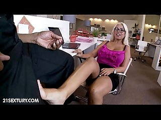 Blond bridgette goes black
