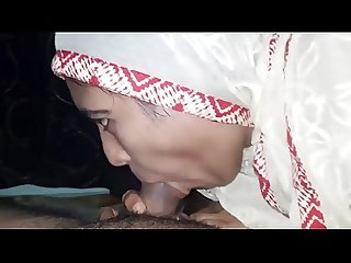 Indian Muslim girl super Blowjob with two creampie
