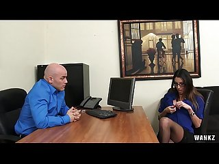 Office Hottie Dava Foxx Blows Her Boss to Keep Her Job