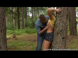 Casual teen sex hitchhiker fucked yana in the woods