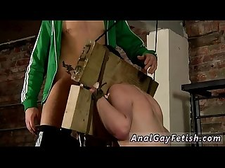 Gay anal masturbate instruction This dude is in the stocks, but it's