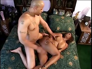 Black slut lola lane with nice tits sucks and fucks with guy having juicy black dong in the bedroom