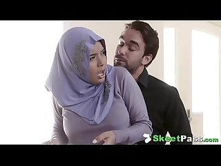 Shy busty arab teen aaliyah hadid ass fucked in her hijab