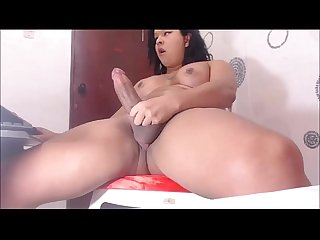 Chubby Shemale Amateur Jerking Off