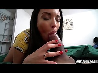Hot momma Anissa Kate is worried about her stepsons lovelife so she gave him a nice blowjob..