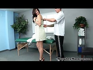 Massage loving brunette gets nasty