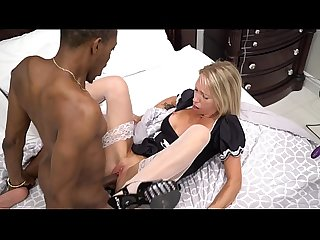 Mary Takes A Fuck Machine And Her Black Stepbrother