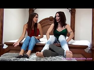 Two Gorgeous Girls Feet Worship Fetish