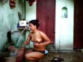 Mob Desi maal bathing 2