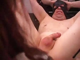 Strapon fucking pathetic slave