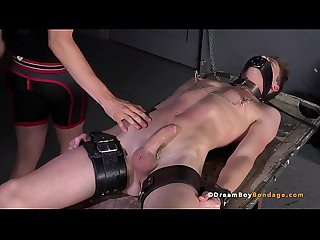 Big Dick Blonde Twink Cums in Hardcore Bondage - Gay BDSM - DreamBoyBondage.com