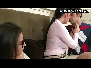 Massive tits stepmom vanilla deville 3way with naughty teens