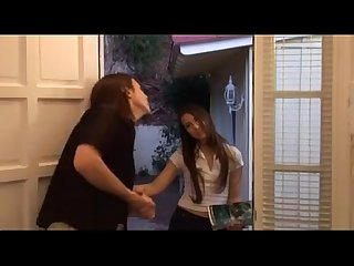 Door to door sales girl barely legal must see