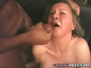 Interracial granny anal