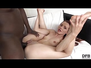 Sexy redhead milf fucked hard by black dude with big black dick and she gives the best pov blowjob
