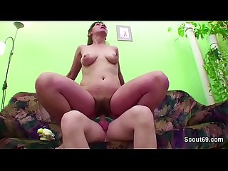 Young boy touch and seduce step mom to get first Fuck