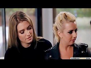 Lesbiancums com lesbian home assault threesome