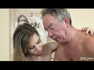 Mistress hides in the closet then joins in for hardcore threesome fuck with her bff and old guy that