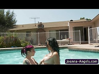 Joanna angel lez licking poolside