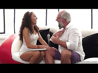 Young latina on much older dick