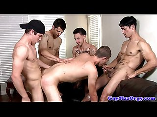 Gay Amateur spitroasted during group Fun