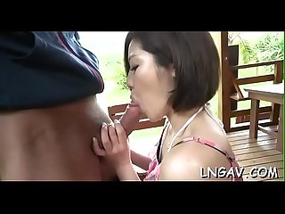 Sexy bitch teases mature man