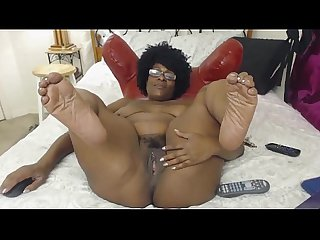 Milf Ebony does Camshow - BlacksOnMoms.co