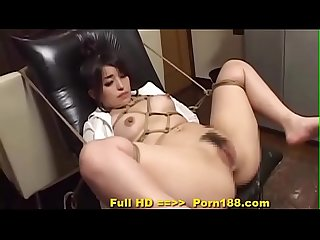 Porn188.com - Subtitled bizarre Japanese BDSM anal play with enema