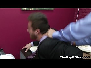 Gaysex office hunk fucked deeply