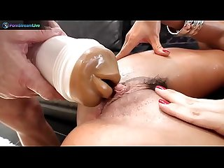 Super hot franceska james is a squirting machine