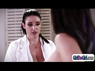 Dr Angela White facesits female patient