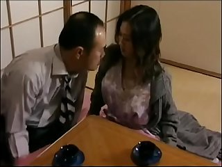 Japanese hot wife cheats with neighbor when her husband is Sleeping