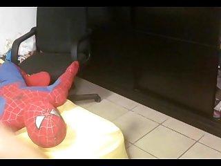 Latina tirandose a Su marido en Su webcam