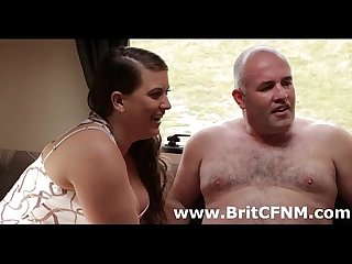 Cute british cfnm babes grab guy off street and jerk him off
