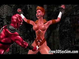 Sexy 3d cartoon babe getting fucked by the devil